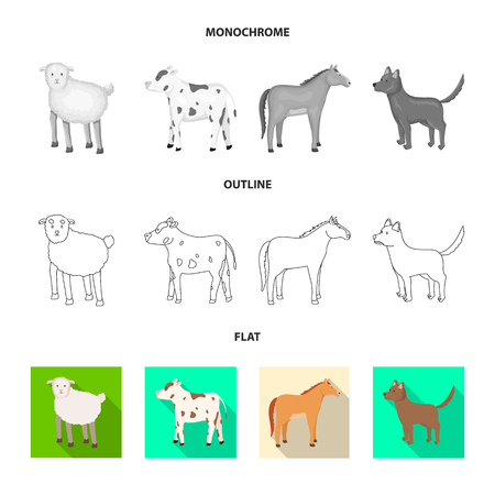 Vector design of breeding and kitchen. Collection of breeding and organic  stock symbol for web.