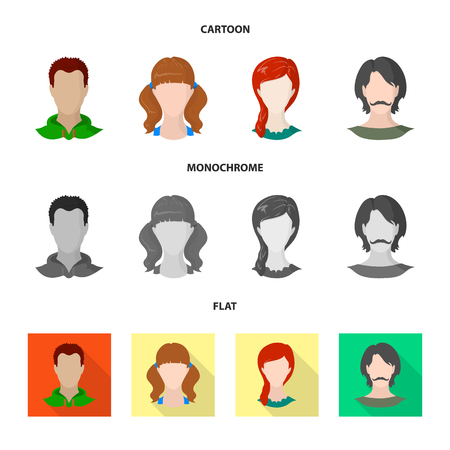 Vector design of professional and photo symbol. Set of professional and profile vector icon for stock.