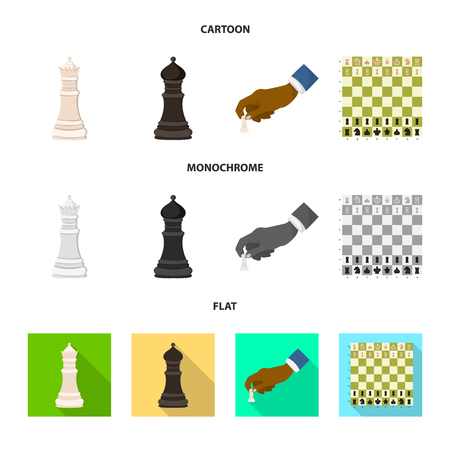 Vector design of checkmate and thin sign. Set of checkmate and target vector icon for stock. Иллюстрация