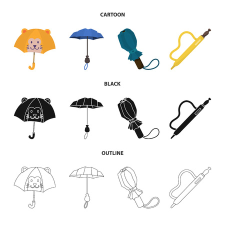 Isolated object of protection and closed symbol. Collection of protection and rainy vector icon for stock.