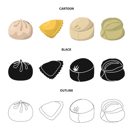 Isolated object of products  and cooking. Set of products  and appetizer stock symbol for web.