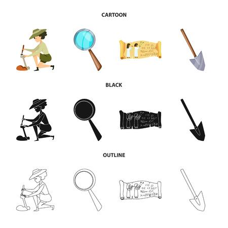 Illustration vectorielle de l'icône de l'histoire et des éléments. Collection d'icônes vectorielles d'histoire et d'attributs pour le stock. Vecteurs