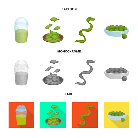 Vector illustration of protein and sea icon. Set of protein and natural vector icon for stock.