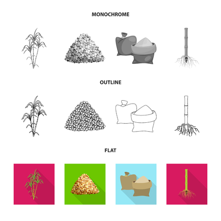 Isolated object of farm and agriculture icon. Set of farm and technology vector icon for stock.