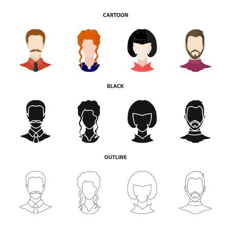 Isolated object of professional and photo sign. Collection of professional and profile stock vector illustration.