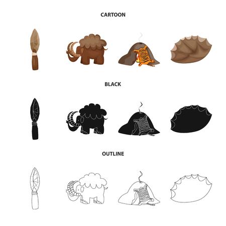 Vector design of evolution and prehistory sign. Set of evolution and development stock vector illustration.