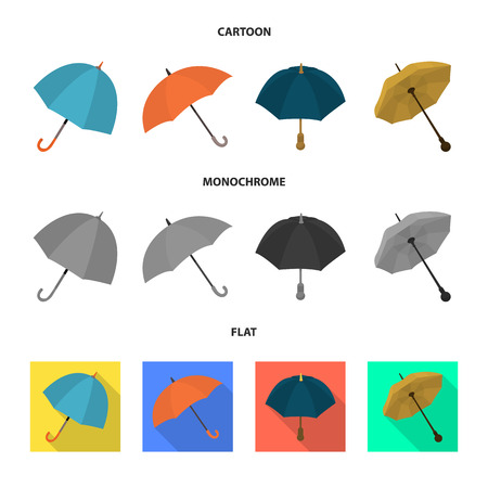 Isolated object of protection and closed sign. Collection of protection and rainy stock symbol for web. Çizim