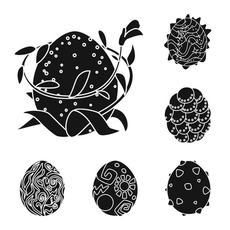 Vector illustration of fantastic and cute  sign. Set of fantastic and magic  stock symbol for web. Иллюстрация