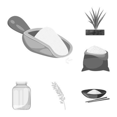 Vector illustration of food and organic logo. Set of food and agricultural stock vector illustration.