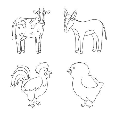 Isolated object of homemade and countryside icon. Set of homemade and agriculture stock vector illustration.