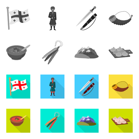 Vector design of culture and sightseeing icon. Collection of culture and originality vector icon for stock. Ilustrace