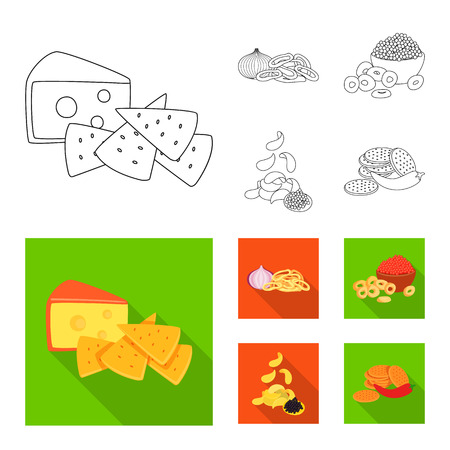 Vector design of taste and seasonin icon. Collection of taste and organic   vector icon for stock. Иллюстрация