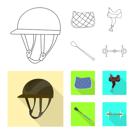 Isolated object of equipment and riding symbol. Collection of equipment and competition vector icon for stock. Ilustração