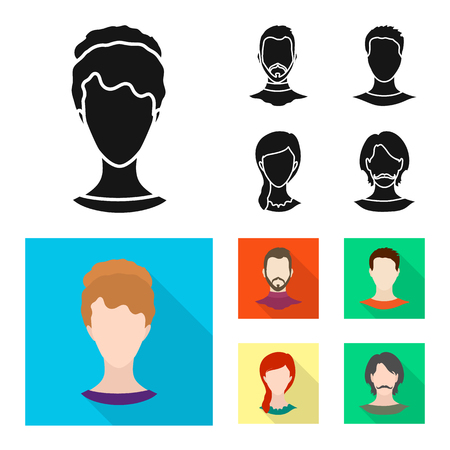 Isolated object of professional and photo icon. Collection of professional and profile stock vector illustration. Illustration