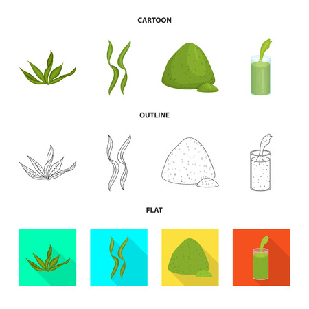 Vector design of protein and sea icon. Set of protein and natural vector icon for stock. Vecteurs