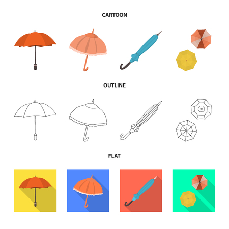 Vector design of protection and closed icon. Collection of protection and rainy vector icon for stock.