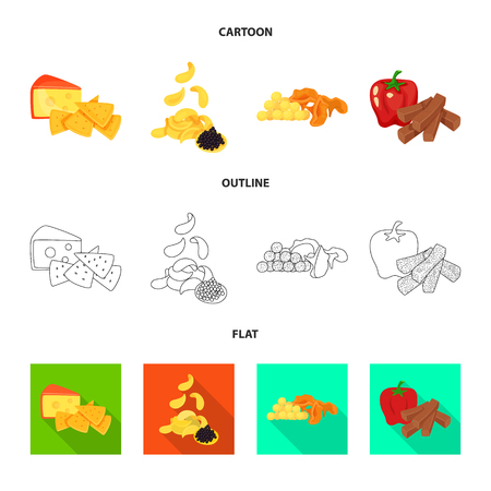 Isolated object of taste and seasonin symbol. Set of taste and organic   vector icon for stock. Иллюстрация