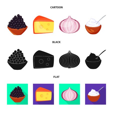 Isolated object of taste and product symbol. Collection of taste and cooking vector icon for stock.