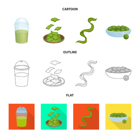 Vector illustration of protein and sea icon. Set of protein and natural stock vector illustration. Illustration