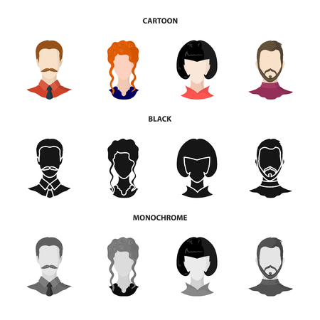 Isolated object of professional and photo logo. Collection of professional and profile vector icon for stock.