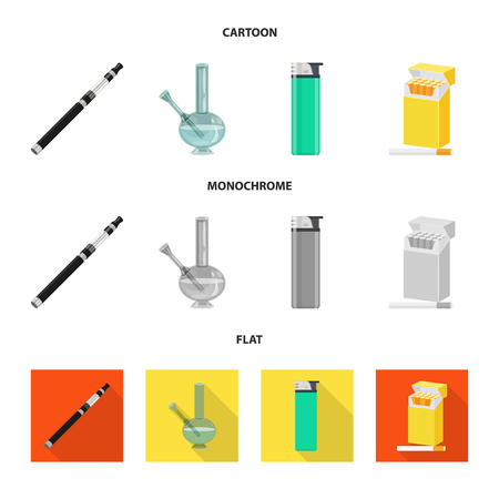 Isolated object of refuse and stop symbol. Set of refuse and habit vector icon for stock. Illustration