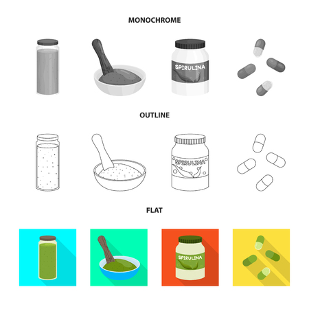 Vector illustration of protein and sea icon. Collection of protein and natural vector icon for stock.