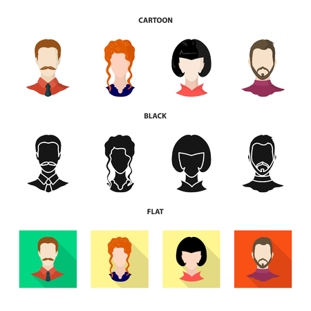 Vector design of professional and photo icon. Set of professional and profile stock symbol for web.