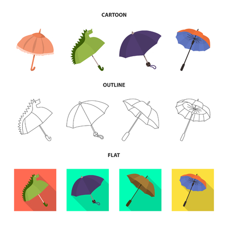 Isolated object of protection and closed symbol. Set of protection and rainy vector icon for stock.