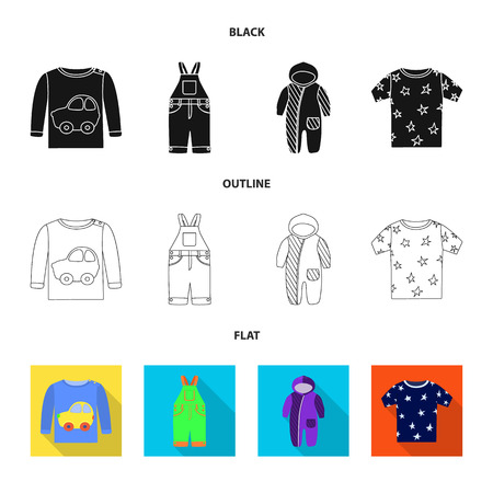 Isolated object of fashion and garment icon. Collection of fashion and cotton vector icon for stock.