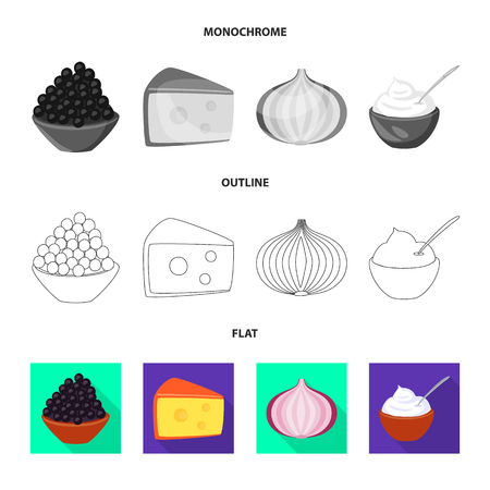 Vector illustration of taste and product icon. Collection of taste and cooking stock vector illustration.