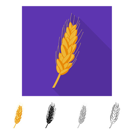 Vector design of agriculture and farming icon. Collection of agriculture and plant  stock symbol for web.