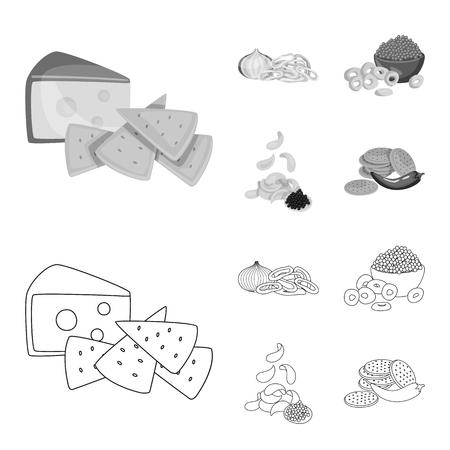 Vector design of taste and seasonin sign. Set of taste and organic   vector icon for stock. Иллюстрация