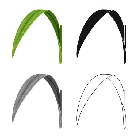 Illustrazione vettoriale di foglia e icona verde. Set di icone vettoriali foglia e materiale per stock.