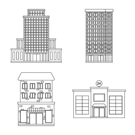 Vector design of architecture and exterior icon. Collection of architecture and city stock vector illustration.