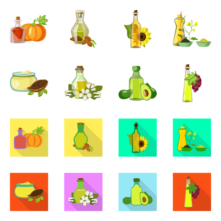 Isolated object of healthy  and vegetable  symbol. Collection of healthy  and agriculture stock symbol for web.