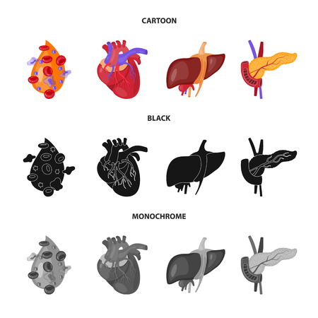 Isolated object of biology and scientific icon. Collection of biology and laboratory vector icon for stock.