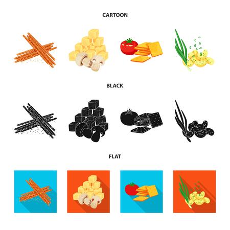 Vector illustration of taste and seasonin icon. Collection of taste and organic   vector icon for stock.