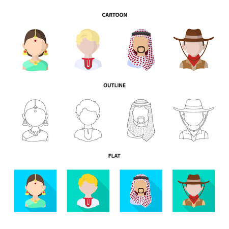 Isolated object of imitator and resident symbol. Collection of imitator and culture stock symbol for web.