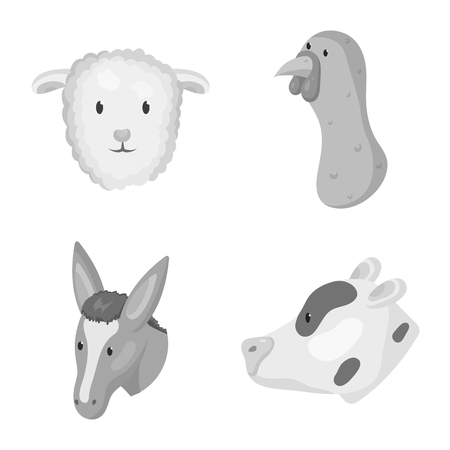 Vector illustration of countryside and homestead icon. Set of countryside and breeding stock vector illustration. Illustration