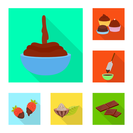Isolated object of treat and product icon. Set of treat and yummy stock symbol for web.