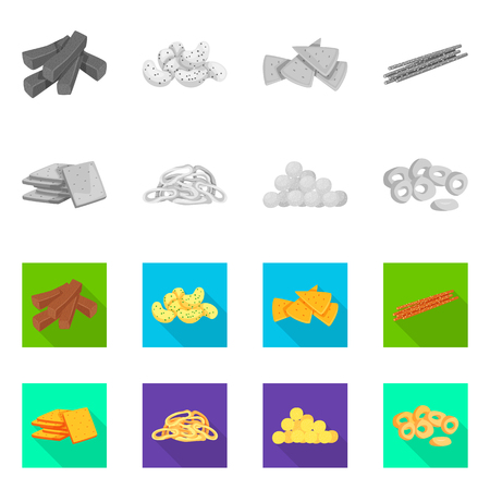 Isolated object of Oktoberfest and bar icon. Collection of Oktoberfest and cooking stock symbol for web. 向量圖像
