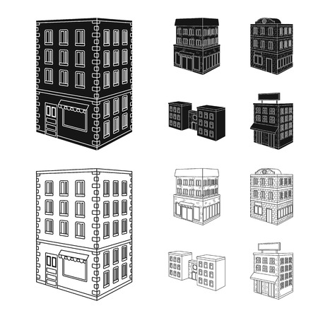 Isolated object of construction and building icon. Set of construction and estate stock symbol for web. Illustration