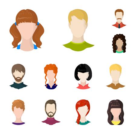 Vector illustration of avatar and dummy symbol. Collection of avatar and figure stock vector illustration.