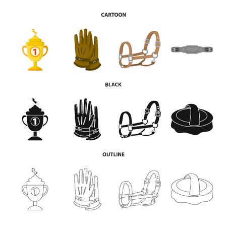 Vector design of equipment and riding logo. Collection of equipment and competition vector icon for stock. Illusztráció