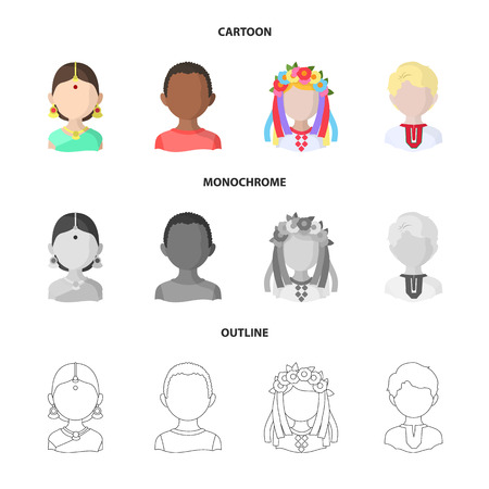 Vector illustration of imitator and resident icon. Set of imitator and culture stock symbol for web. Vettoriali