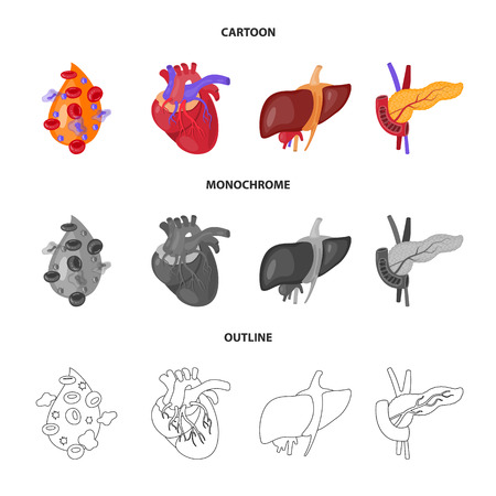 Isolated object of biology and scientific icon. Collection of biology and laboratory stock vector illustration.