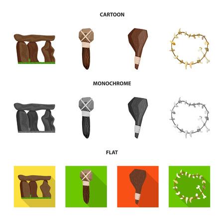 Vector illustration of evolution and prehistory symbol. Set of evolution and development stock symbol for web. Vector Illustration