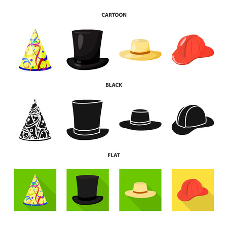 d91774fbdefbe Vector illustration of clothing and cap icon. Collection of clothing and  beret stock symbol for