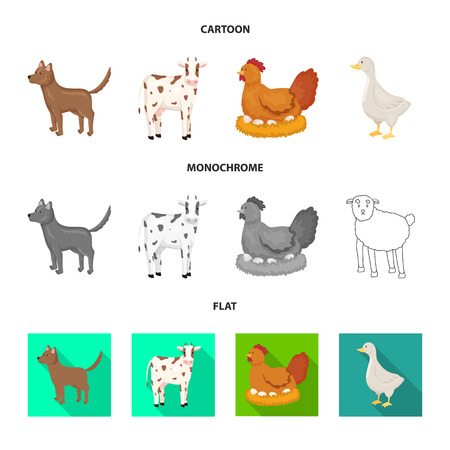 Vector illustration of breeding and kitchen  icon. Set of breeding and organic  vector icon for stock.