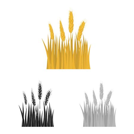 Illustrazione vettoriale del logo agricoltura e allevamento. Set di illustrazione vettoriale d'archivio agricoltura e pianta.